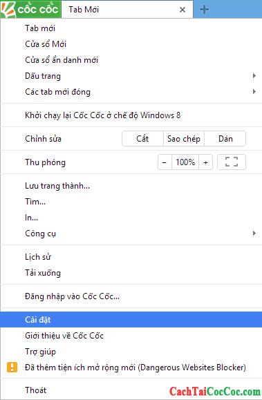 Hình 2 - Hướng dẫn xem và xóa mật khẩu đã lưu trên trình duyệt Cốc Cốc
