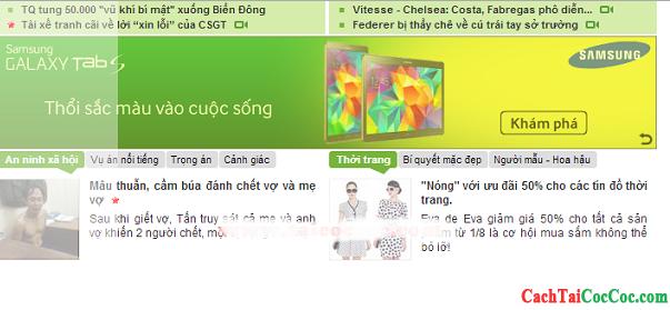 Hình 11 - Chi tiết cách chặn quảng cáo trên trình duyệt web Cốc Cốc