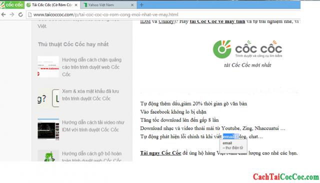 Hình 2 - Tính năng mới của Cốc Cốc: dịch Anh - Việt nhanh khi lướt web