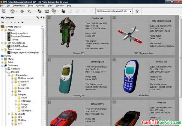 Tải 3D Photo Browser - Ứng dụng quản lý album ảnh cho Windows + Hình 3